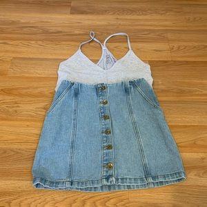 Forever 21 denim mini skirt.